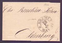 Vorphilabrief Bremen 1822 mit großem Schlüsselstempel nach Oldenburg (323)