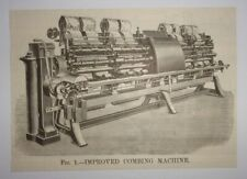 1884 Improved Combing Machine Engraving