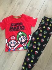 boys super mario pyjamas PJ 10 years 140cm
