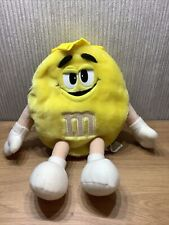 More details for m&m's sweets plush backpack soft toy rare yellow bag collectable sweets