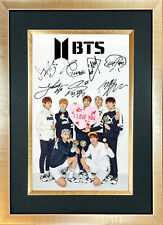 More details for bts no3 boy band signed reproduction autograph mounted photo print a4 761