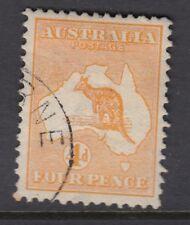 AUSTRALIA :1913 4d orange die II SG 6 used- looks CTO