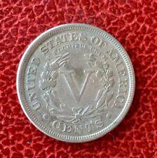 Etats-Unis - U.S.A. -   Très Jolie  monnaie de  5 Cents  1883