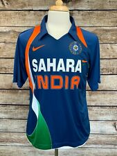 Men's Nike Dri-Fit Sahara Team India Blue National Cricket Team Polo Jersey Sz L
