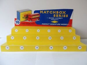 Matchbox Lesney Series/ Display for matchbox cars and truck Number 1-18 november