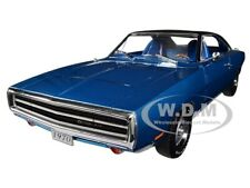 1970 DODGE CHARGER 500 BLUE 1/18 DIECAST MODEL CAR BY GREENLIGHT 13530