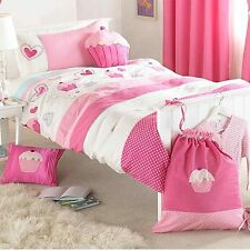 Riva Home Kids Cupcakes Applique Embroidered Bedspread, Pink, 150 x 200 Cm