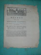 200-REVOLUTION 1793 Décret ordre de détruire les portraits et effigies des ROIS