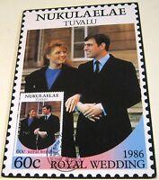 Nukulaelae Tuvalu FDC 1986 Royal Wedding 60c - unposted