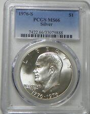1976-S Silver Eisenhower IKE Bicentennial Dollar PCGS MS66