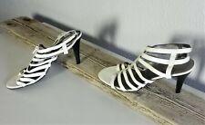 Worthington White Women High Heel Summer Shoes Sz 9.5 M #323