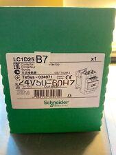 LC1D25B7  24V  60HZ  Schneider