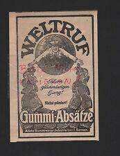 BARMEN, Werbung 1916, Atleta Gummiwaren-Industrie GmbH Gummi-Absätze
