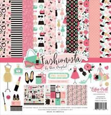 Echo Park FASHIONISTA 12x12 Collection Kit Fashion Girl Shopping Scrapbook