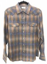 NWT SABLE & STONE Brown Plaid Snap Detail Soft Cotton Flannel Shirt Size Medium