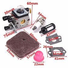 ☞Carburetor Kit Carb Spark Air Filter Gasket Bulb For Stihl FS46 HS45 KM55 FS85R