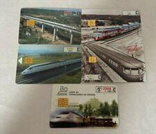 SPAIN Phonecards - 5 x Trains & Bridges