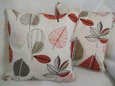 """Maple Leaf da prestigiosa NUOVO tessuto di cotone 100% 1 paio di 18"""" Cuscino Copre"""