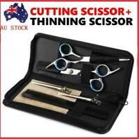 "6pcs 6"" Salon Hairdressing Scissors Hair Barber Shears Cutting Thinning Tool Set"
