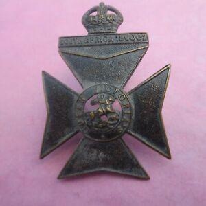 The 9th Battalion London Regiment Queen Victoria's Rifle Army/Military Cap Badge