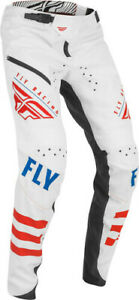 Fly Racing Men's Kinetic Limited Edition Bicycle Pants White/Red/Blue All Sizes