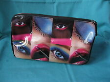 Front Cover shiny cosmetic purse, make-up pattern sponge bag 20x12x9cm
