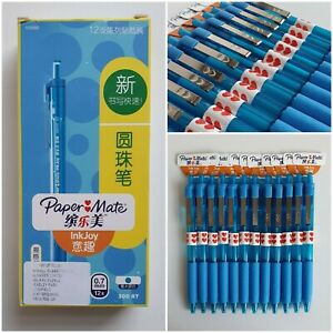 12 x Paper Mate Ink Joy - Non-Stop 0.7mm 300 RT Pen Blue - NEW