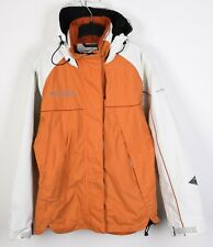 Columbia Titanium Omni-Tech S Women Ski Orange Jacket Coat Snow skirt Hood RA11h
