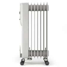 1500W Portable Radiator Heater 7-Fin Electric Oil Filled Home Office Thermostat