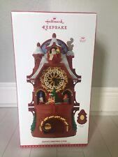 Hallmark Santa's Christmas Clock 2017 Mantel Table Decoration Sound Motion NEW