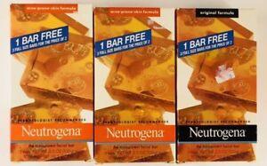 Set Of 9 Neutrogena Transparent Facial Bars Acne-Prone Skin & Original Formula