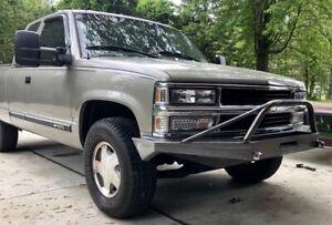 Chevy GMC Truck 1500 2500 Front Winch Bumper 88-98 Tahoe Suburban 92-98 PreRunne