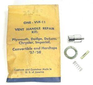 Vent Window Glass Lock Handle Repair Parts 57-58 Dodge Plymouth Desoto Chrysler
