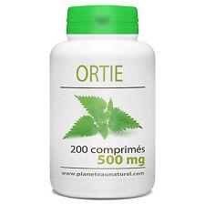 Ortie 500 mg - 200 comprimés - Planète au Naturel