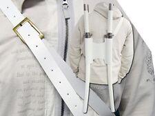 "40"" G.I. JOE White Ninja Samurai TWIN SWORD SET Katana Carbon Steel Blade Strap"