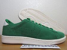 Nike Tennis Classic CS Suede Sz 9.5 100% Authentic Retro PINE GREEN 829351 300