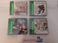 New * Final Fantasy Origins + Anthology + IX 9 + Chrono Cross - ps1 lot * Sealed