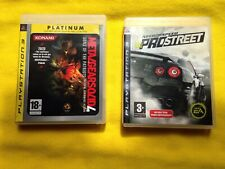 Lot 2 Jeux Sony Playstation 3 PS3 Need For Speed Metal Gear Solid 4