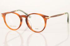 Jimmy Choo 152 brown glitter havana round frame optical eyeglasses NEW $275