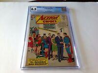 ACTION COMICS 309 CGC 6.5 JFK BATMAN LEX LUTHOR LEGION SUPER HEROES DC COMICS
