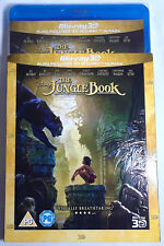 THE JUNGLE BOOK (2016) New Sealed 3D + 2D BLU-RAY Movie w/ Imperfect Slipcover