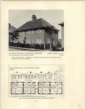 1926 Pair Of Cottages At Earswick Parker Bungalow At St Anne's-on-sea Arthur Ash