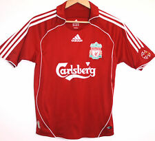 "EX! Liverpool FC 2006/2007/2008 ADIDAS L LARGE YOUTH SMALL MAN Shirt 32"" - 34"""