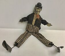 Antique Charlie Chaplin Tin and Wood Toy