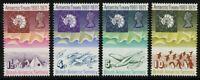 Brit. Antarktis BAT Antarctic 1971 Antarktisvertrag Landkarte Pinguine 39-42 MNH