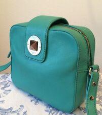 KATE SPADE NY New Isla Chrystie Street Top Zip Crossbody Bag Mint Green Leather