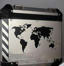 2 x Weltkarten schwarz für Alu-Koffer BMW R1200GS Adv. F650GS F700GS F800GS