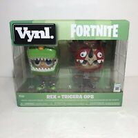 Funko VYNL Fortnite Rex & Tricera Ops Vinyl Collectibles Figures NEW