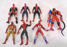 Marvel Spider-Man Toybiz Action Figure lot of 7 - Spiderman 1995-1998