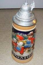Vintage Christmas 1978 Schmidt Lidded Beer Stein